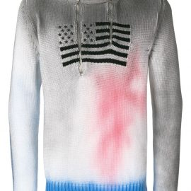 1017 ALYX 9SM flag embroidered sweater - White