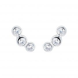 18ct White Gold 0.20ct Diamond Design Climber Earrings