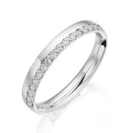 18ct White Gold 0.20ct Diamond Half Eternity Wedding Ring