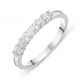 18ct White Gold 0.26ct Diamond Half Eternity Ring