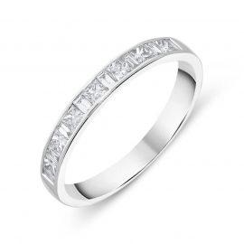 18ct White Gold 0.51ct Diamond Channel Set Half Eternity Ring