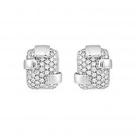 18ct White Gold 1.64cttw Diamond Beam Earrings