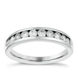 18ct White Gold 1/2ct Diamond Eternity Ring