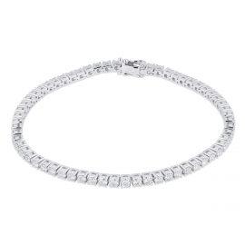 18ct White Gold 3.00cttw Diamond Tennis Bracelet