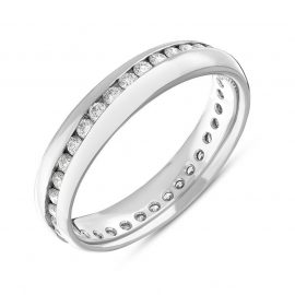 18ct White Gold 4mm 0.57ct Diamond Wedding Ring