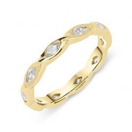 18ct Yellow Gold 0.60ct Diamond Marquise Eternity Ring