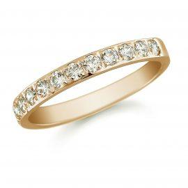 18ct Yellow Gold 1.00ct Grain Set Round Brilliant Cut - Ring Size M