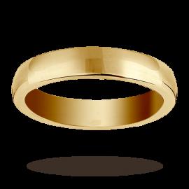 18ct Yellow Gold 4mm Heavy Court Wedding Ring