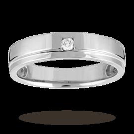 Ladies Diamond Set Wedding Ring In 18 Carat Platinum - Ring Size L