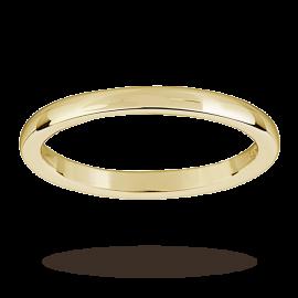 18ct Yellow Gold 2mm Heavy Court Wedding Ring