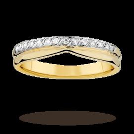 Ladies 0.09 total carat weight diamond 4mm wedding ring i ...