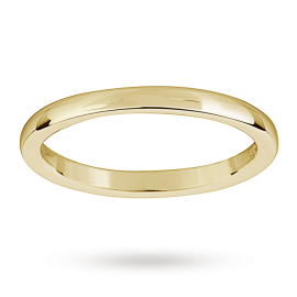 Mappin & Webb 18ct Yellow Gold 2mm Heavy Court Wedding Ring