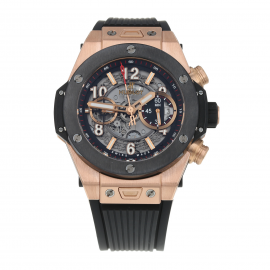 Pre-Owned Hublot Big Bang Unico King Gold Mens Watch 411.OM.1180.RX