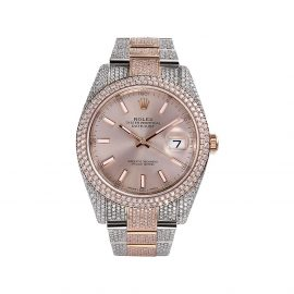 777 customised Rolex Oyster Perpetual Datejust 41mm - Silver