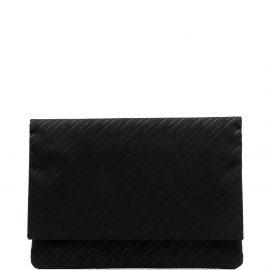 AMBUSH all-over logo canvas laptop bag - Black