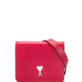 AMI Paris mini Ami de cœur bag - Red