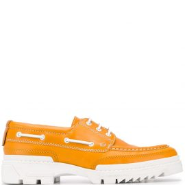 AMI Paris tractor sole boat shoes - Yellow
