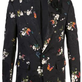 AMIRI floral embroidered printed blazer - Black
