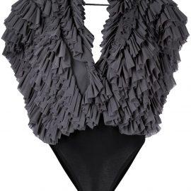 Alchemy ruffle sleeveless bodysuit - Grey