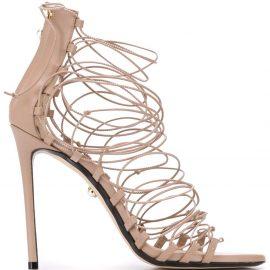 Alevì multi-strap front heeled sandals - Neutrals