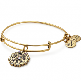 Alex And Ani Yellow Gold Mother of the Bride Charm Bangle