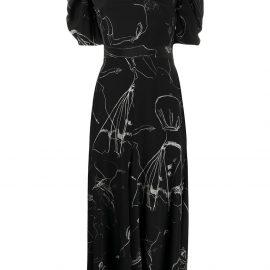 Alexander McQueen Dancing Girl midi dress - Black