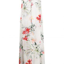 Alexander McQueen Endangered Flower print sleeveless dress - White