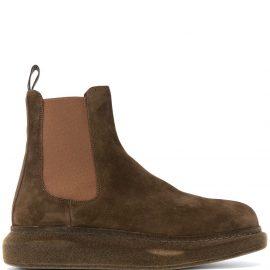 Alexander McQueen Hybrid Chelsea boots - Brown