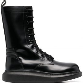 Alexander McQueen Hybrid mid-calf boots - Black