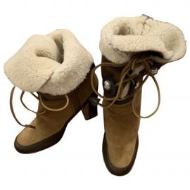 Alexander McQueen Leather snow boots