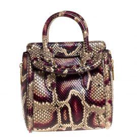 Alexander McQueen Multicolor Python Mini Heroine Shoulder Bag
