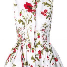 Alexander McQueen Poppyfield corset shirt - White