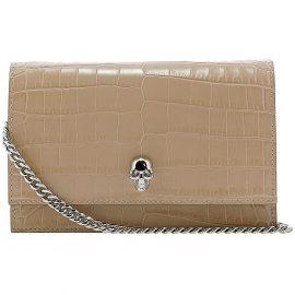 Alexander McQueen Shoulder Bag for Women On Sale, Beige, Leather, 2021