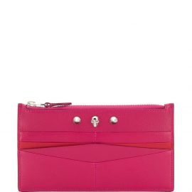 Alexander McQueen Skull detail zipped wallet - Pink