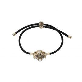 Alexander McQueen Skull friendship bracelet - Black