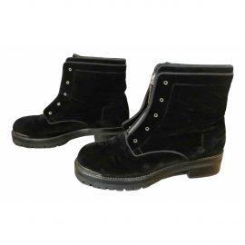 Alexander McQueen Velvet biker boots