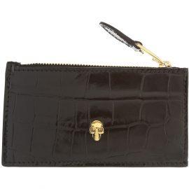 Alexander McQueen Wallet for Men On Sale, Black, Leather, 2021