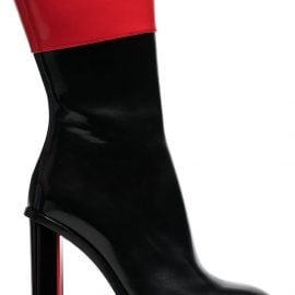 Alexander McQueen black and red hybrid 105 leather boots