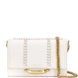 Alexander McQueen braid-detailed shoulder bag - White