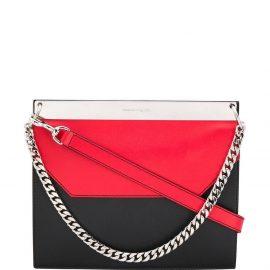 Alexander McQueen colourblock shoulder bag - Black
