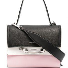 Alexander McQueen contrast panel tote bag - Black