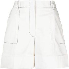 Alexander McQueen contrast-stitching cotton shorts - White