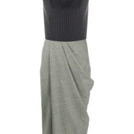 Alexander McQueen draped detail midi dress - Blue