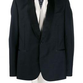 Alexander McQueen evening scarf tuxedo jacket - Black