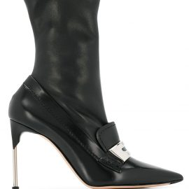 Alexander McQueen loafer-style ankle boots - Black