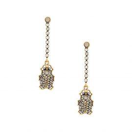 Alexander McQueen pavé beetle earrings - Gold