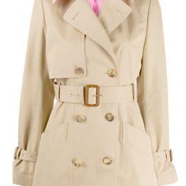 Alexander McQueen short trench coat - Neutrals