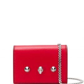 Alexander McQueen skull chain wallet - Red