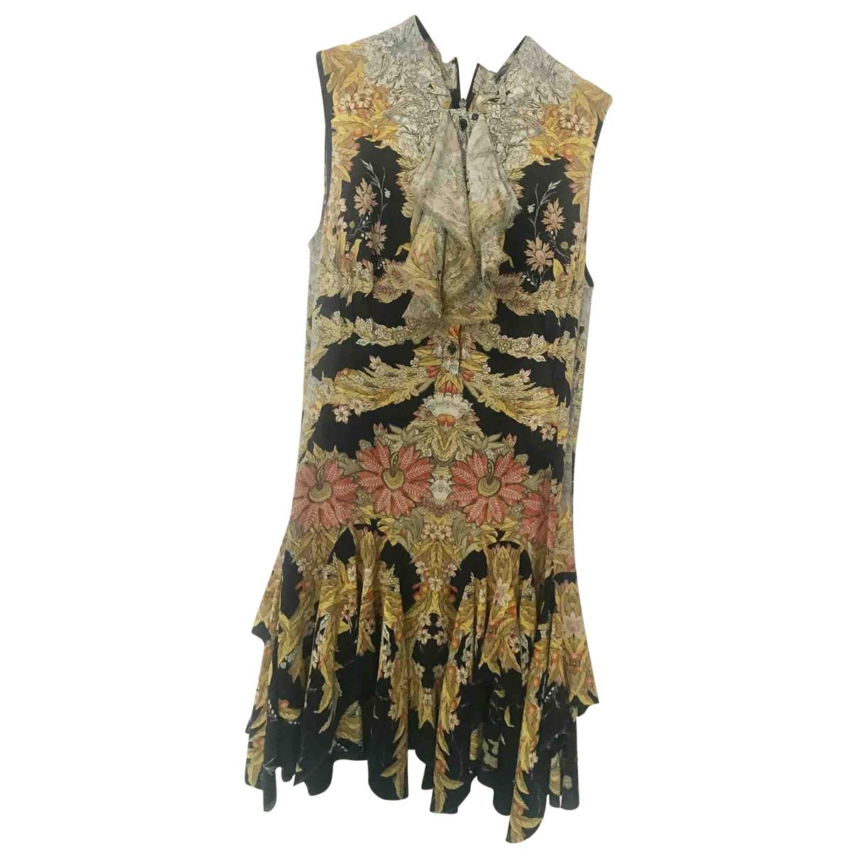 Alexander Mcqueen N Gold Silk Dress for Women