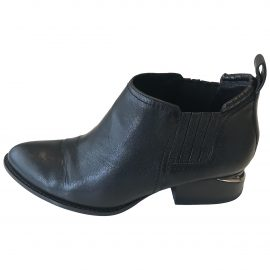 Alexander Wang Kori Black Leather Ankle boots for Women